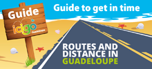 guide icigo route and Guadeloupe distances