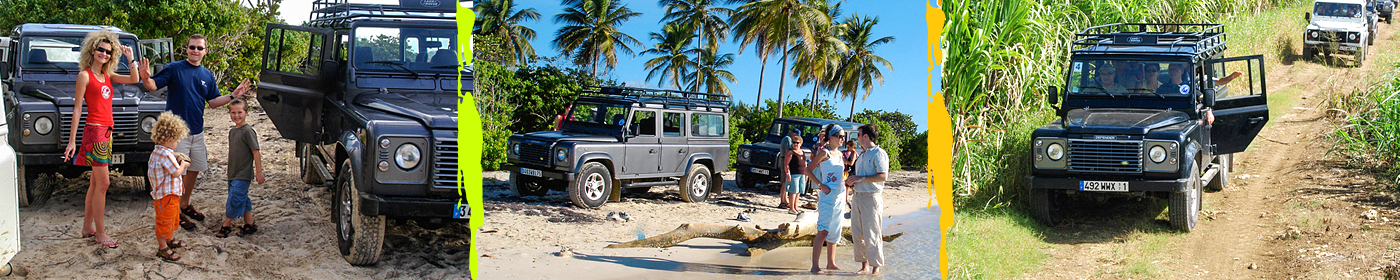 Excursion en 4x4 - Guadeloupe