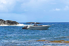 bateau david excursion desirade devant lagon