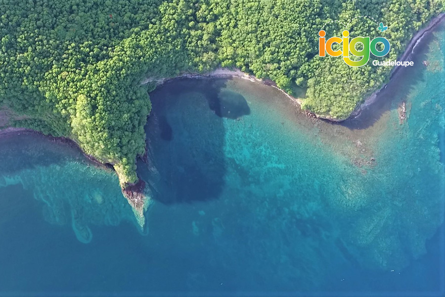 beau site vue aerienne Guadeloupe