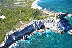 Aerial view of Pointe des Chateaux