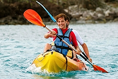 Kayak dans la réserve Cousteau